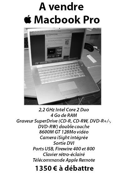 a vendre macbook pro