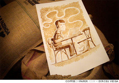 coffee and paper