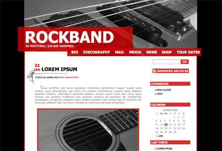RockBand Theme WOrdpress