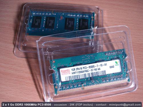 A vendre For sale SDRAM DDR3 PC3-8500 Macbook